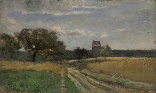 Charles François Daubigny, 'Landscape along a Country Road', ca. 1860