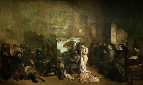 Gustave Courbet, 'The Studio', 1855