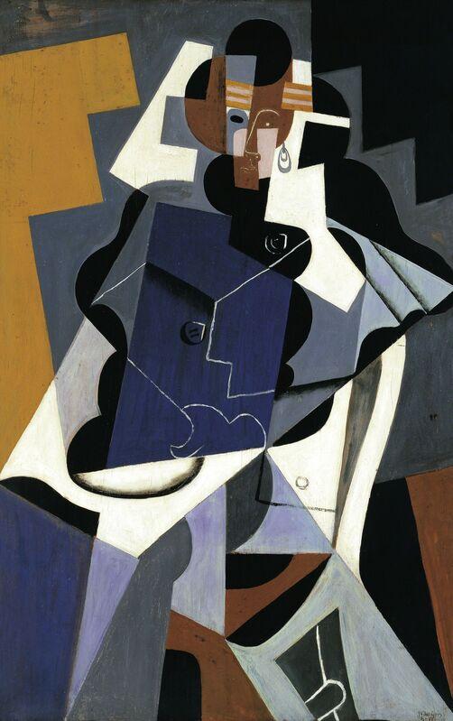 Juan Gris, 'Woman', 1915-1917, Painting, Oil on canvas, Art History 101