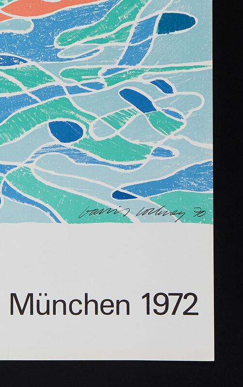David Hockney, 'Olympic Games Poster (printed signature in image) ', 1970, Print, Original 1970s poster for the Olympische Spiele Munchen 1970 printed on heavy wood-free paper, ModernPrints.co.uk