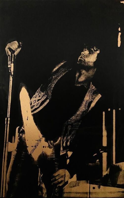 Russell Young, 'Jim Morrison, Hollywood Bowl, 1968', 2009, Print, Silkscreen on canvas, The Art of ElysiumBenefit Auction