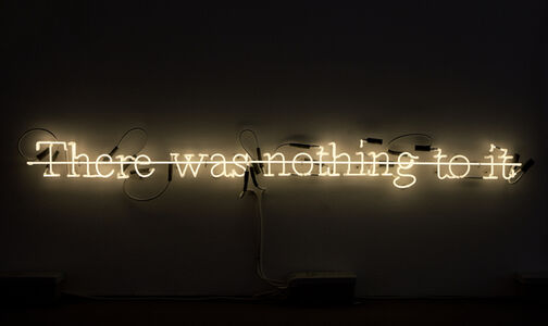 Joseph Kosuth, ''C.S. II #11 There was nothing to it'', 1988