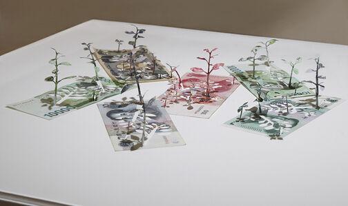 Yuken Teruya, 'Green Economy(won, yuan, yen)', 2015