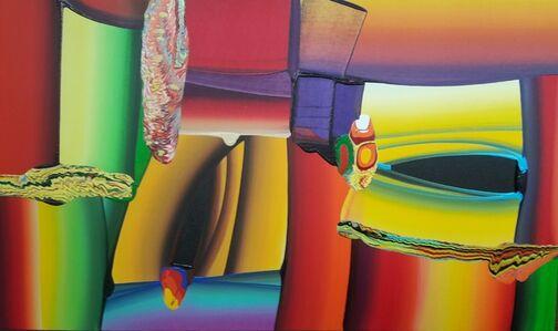 Bose Krishnamachari, 'Stretched Bodies, Abstract, Colorful, Acrylic by Contemporary Indian Artist Bose Krishnamachari', 2000-2015