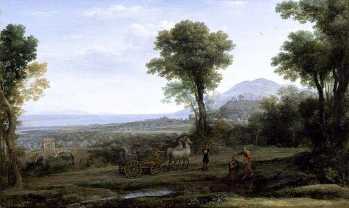 Claude Lorrain, 'Landscape with St. Philip Baptizing the Eunuch', 1678