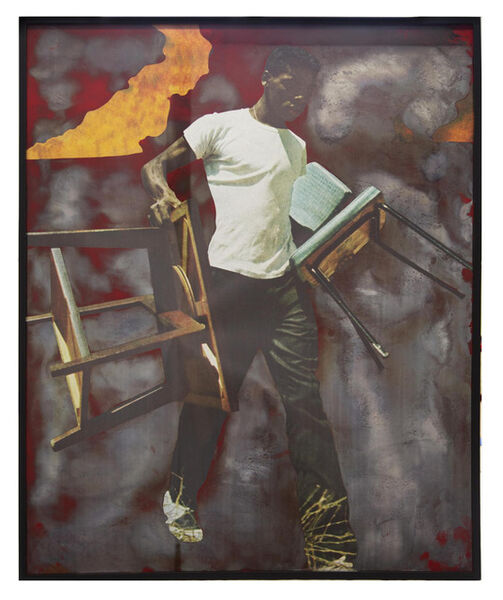 Hank Willis Thomas, 'There's No Easy Place to Pin the Blame (red alert)', 2018