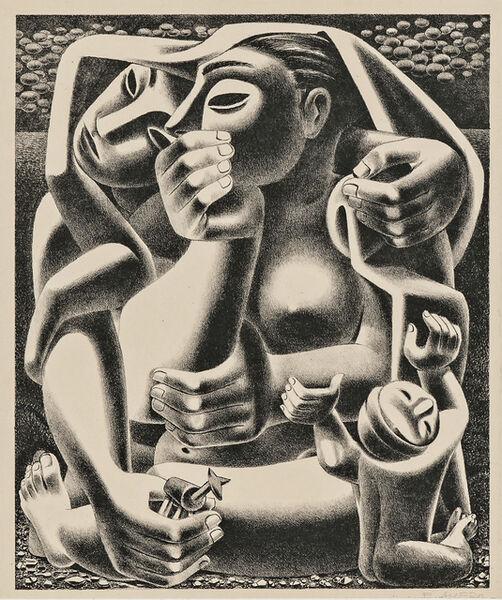 Emilio Amero, 'Donde? (Where?)', 1950