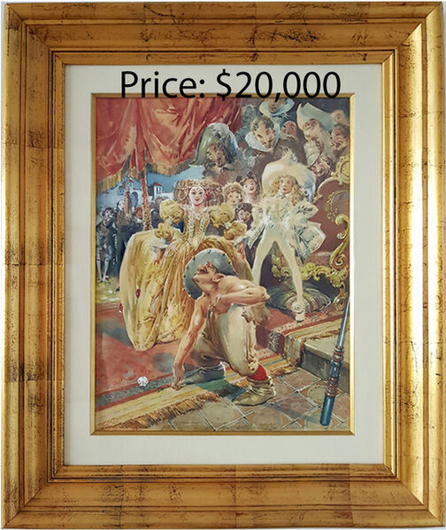Everett Shinn, 'Court Jester', 1915