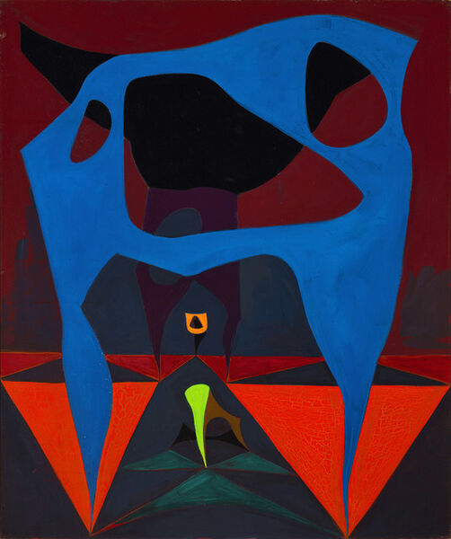 Lorser Feitelson, 'Untitled, Magical Forms (study)', 1950