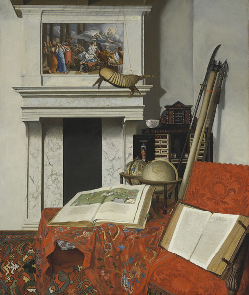 Jan van der Heyden, 'Room Corner with Rarities', 1712