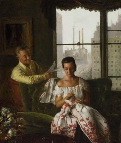 John Koch, 'At Home', 1953