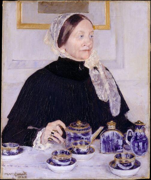 Mary Cassatt, 'Lady at the Tea Table', 1883–1885