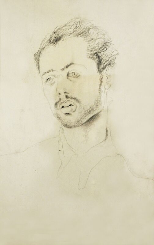 Hedda Sterne, 'Portrait of Jules Perahim ', 1938, Drawing, Collage or other Work on Paper, Crayon on paper, Postmodernism Museum
