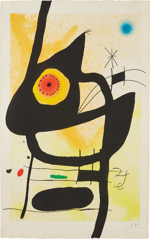 Joan Miró, 'La Femme des sables (The Woman of the Sands)', 1959, Print, Etching and aquatint in colors with carborundum, on Arches paper, the full sheet., Phillips