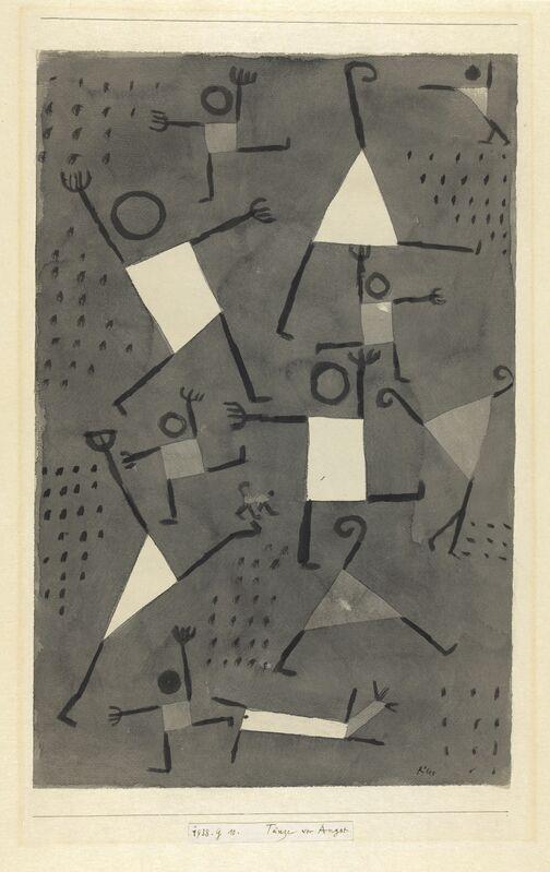 Paul Klee, 'Danses sous l'empire de la Peur', 1938, Drawing, Collage or other Work on Paper, Watercolour on paper on card, Centre Pompidou
