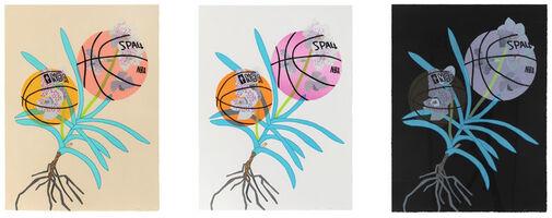 Jonas Wood, 'Double Basketball Orchid 2 (States I, II, and III)', 2020