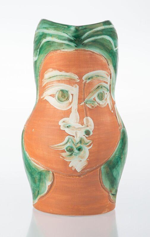Pablo Picasso, 'Visage de femme', 1953, Design/Decorative Art, Terre de faïence pitcher, painted and glazed, Heritage Auctions
