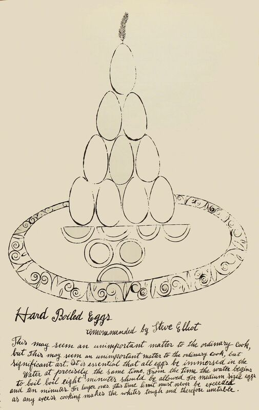 Andy Warhol, 'Hard Boiled Eggs', 1959, Print, Offset lithograph, Woodward Gallery