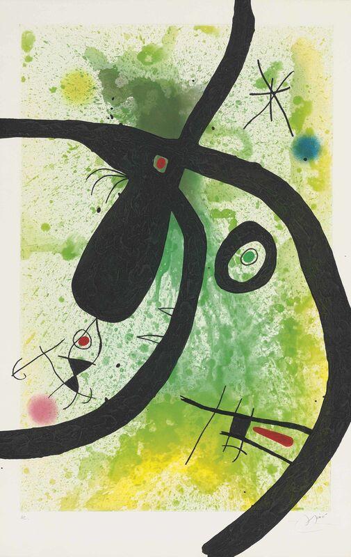 Joan Miró, 'Le Chasseur de Pieuvres', 1969, Print, Etching, aquatint and carborundum in colours on Arches wove paper, Zeit Contemporary Art