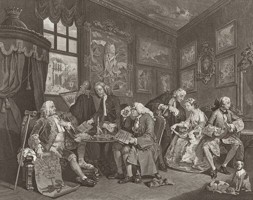 WILLIAM HOGARTH: CHARACTERS AND CARICATURES, installation view
