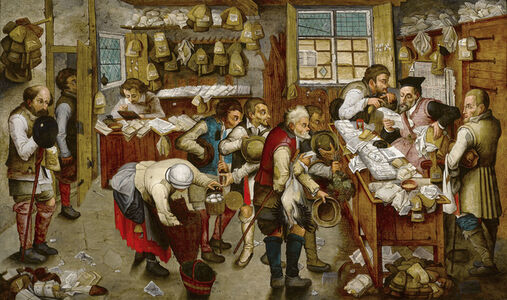 Pieter Bruegel the Younger, 'The Payment of Tithe', ca. 1616