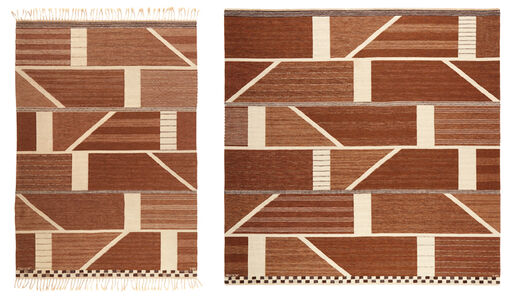"""Marianne Richter, 'Two """"Korsvirke brun"""" rugs', designed in 1972-the larger executed in 1976"""