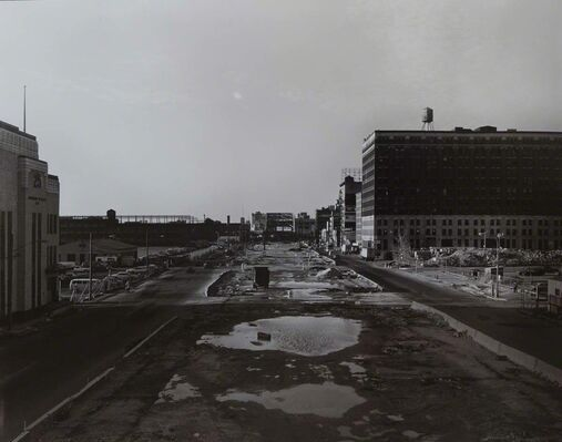 The Destruction of the West Side Highway:  Portfolio  created ca.1983-84 by Robert Bianchi, installation view