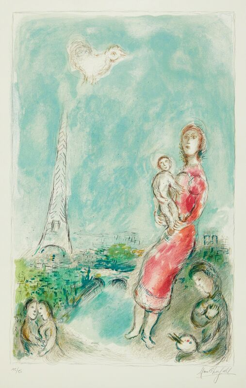 Marc Chagall, 'Maternité rouge (Red Maternity)', 1980, Print, Lithograph in colors, on Arches paper, with full margins, Phillips