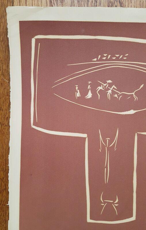 Pablo Picasso, 'Toros en Vallauris', 1959, Print, Linocut, Graves International Art