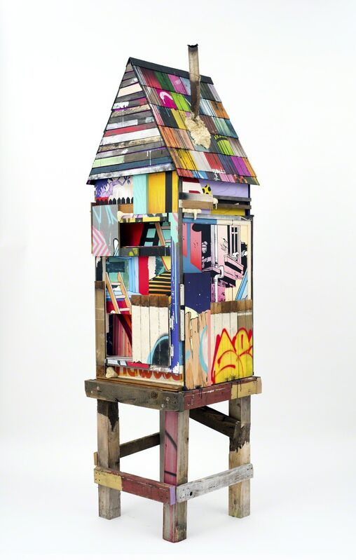 POSE, 'Row House 2', 2015, Sculpture, Acrylic & Spray Paint on Reclaimed Material, BEYOND THE STREETS