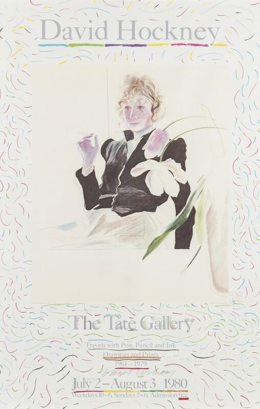 David Hockney, 'Celia. Poster for The Tate Gallery', 1980, Print, Offset lithograph printed in colours on wove paper, Forum Auctions