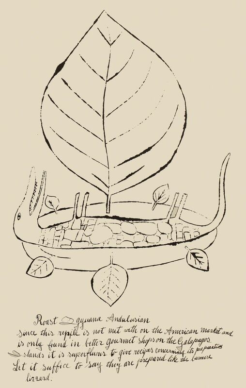 Andy Warhol, 'Roast Igyuana Andulsion', 1959, Print, Offset lithograph, Woodward Gallery