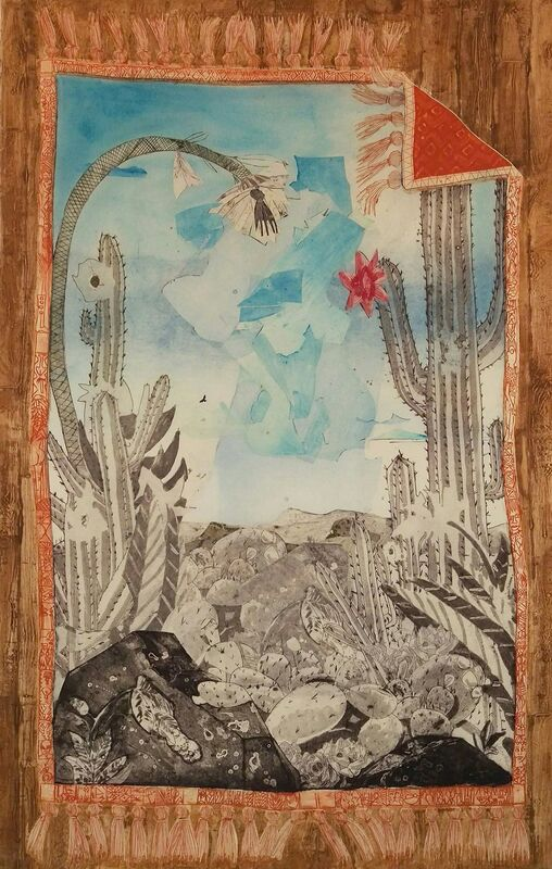 Paula Wilson, 'In the Desert: Malpais Rug', 2016, Print, Monoprint with collagraph on muslin, Island Press