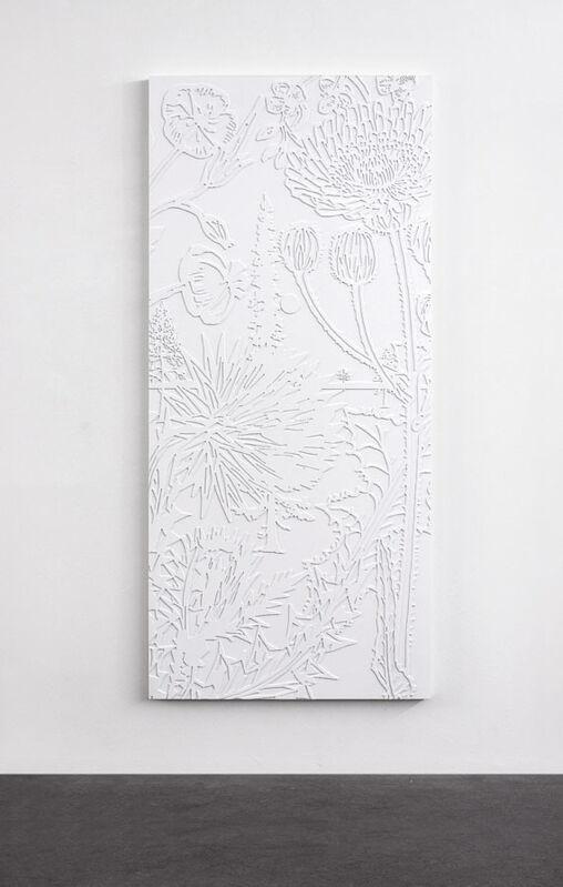 Paul Morrison, 'Hilum', 2006, Sculpture, Polyurethane, CNC-milled, lacquered white, on wood door panel, Schellmann Art