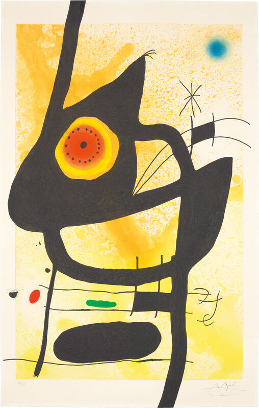 Joan Miró, 'La Femme des sables (The Woman of the Sands)', 1969, Print, Etching and aquatint with carborundum in colours, on Arches paper, the full sheet., Phillips