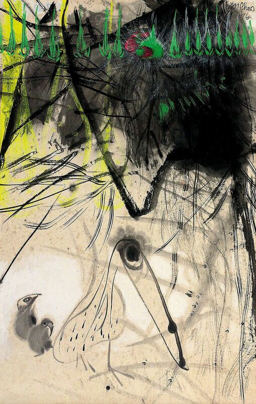 Chao Chung-hsiang 趙春翔, 'I am Hungry', 1976, Drawing, Collage or other Work on Paper, Chinese ink & acrylic on paper mounted on canvas, Alisan Fine Arts