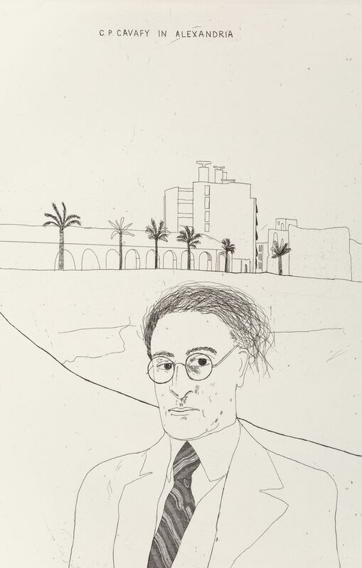 David Hockney, 'Illustrations for Fourteen Poems by C.P. Cavafy, Edition A', 1966, Print, Etchings with aquatint on Crisbrook handmade paper, Heritage Auctions