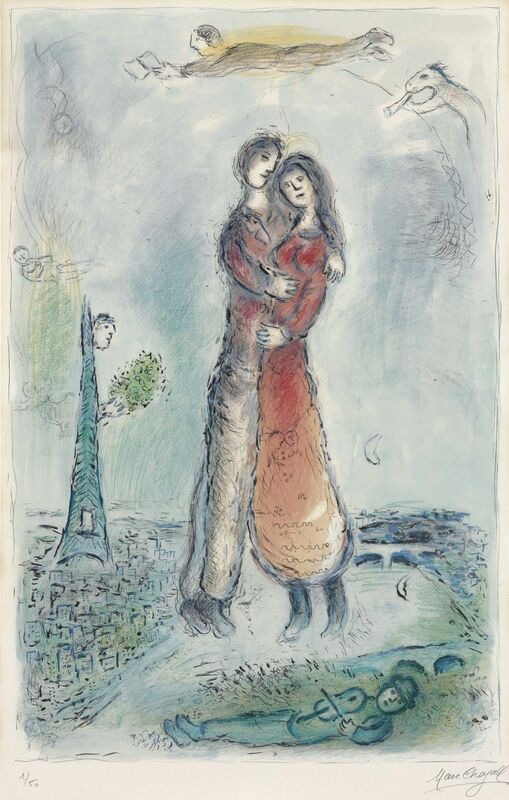 Marc Chagall, 'La Joie', 1980, Print, Lithograph in colors on Arches paper, Christie's