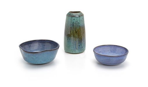 Harrison McIntosh, 'Two low bowls and one vase, 3 pieces'