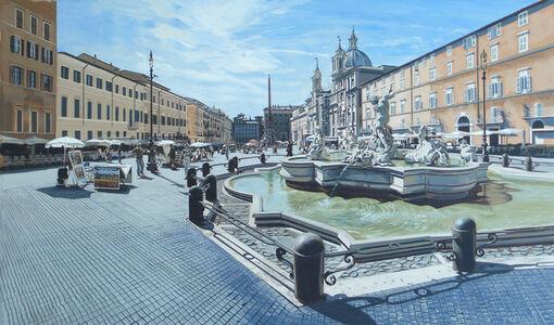 David Wheeler, 'Study: Luce del Mattino (Piazza Navona, Rome)'