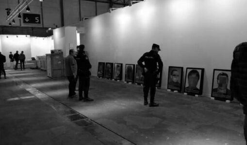 """Santiago Sierra, 'Retirada de la pieza """"Presos Políticos en la España Contemporánea"""" de ARCO 2018', 2018"""