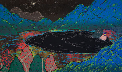 Chang Teng-yuan 張騰遠, 'Conference held in hot spring', 2018