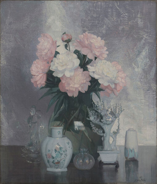 Hermann Dudley Murphy, 'Peonies and Porcelain', 1930