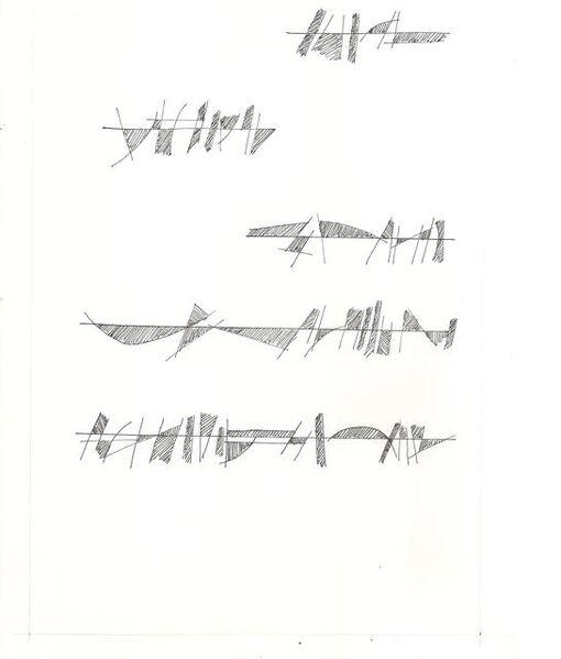 Mirtha Dermisache, 'Sin título (carta)', 1974