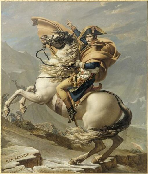 Jacques-Louis David, 'Le Premier consul franchissant les Alpes au col du Grand-Saint-Bernard (Napoleon Crossing the Alps)', 1801