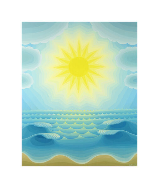 Amy Lincoln, 'Blue Seascape with Radiant Sun', 2020