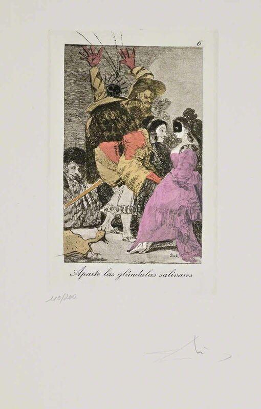Salvador Dalí, 'Aparte las glandulas salivares (Les Caprices de Goya de Dalí, #6)', 1977, Print, Hand-signed etching on heliogravure, Martin Lawrence Galleries
