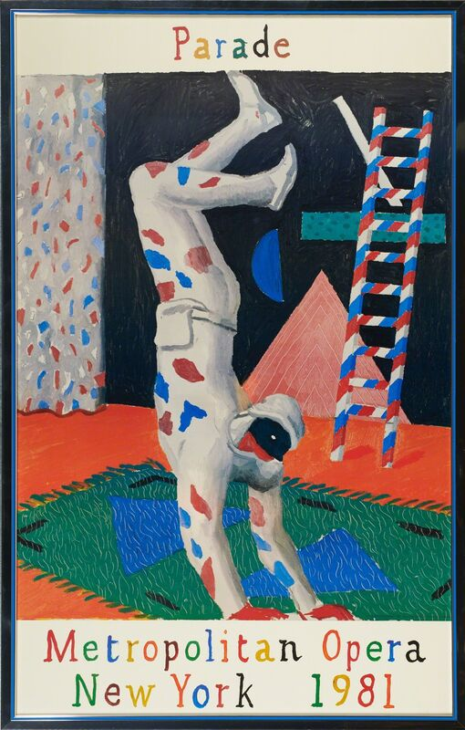 David Hockney, 'Parade for Metropolitan Opera', 1981, Print, Offset lithograph (poster) in colors (framed), Rago/Wright/LAMA