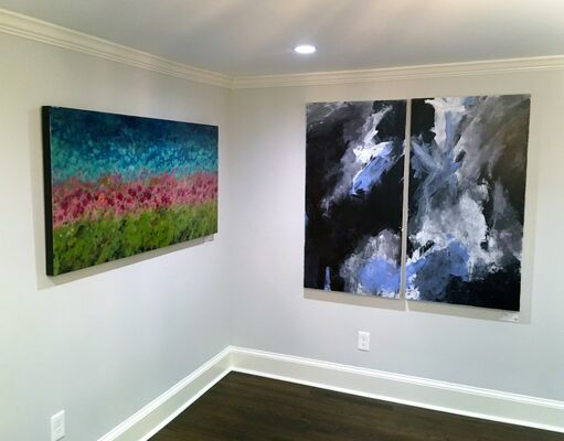Her Window to the World: East and West Coast Artists Pop Up exhibit on Greenfield Hill, installation view