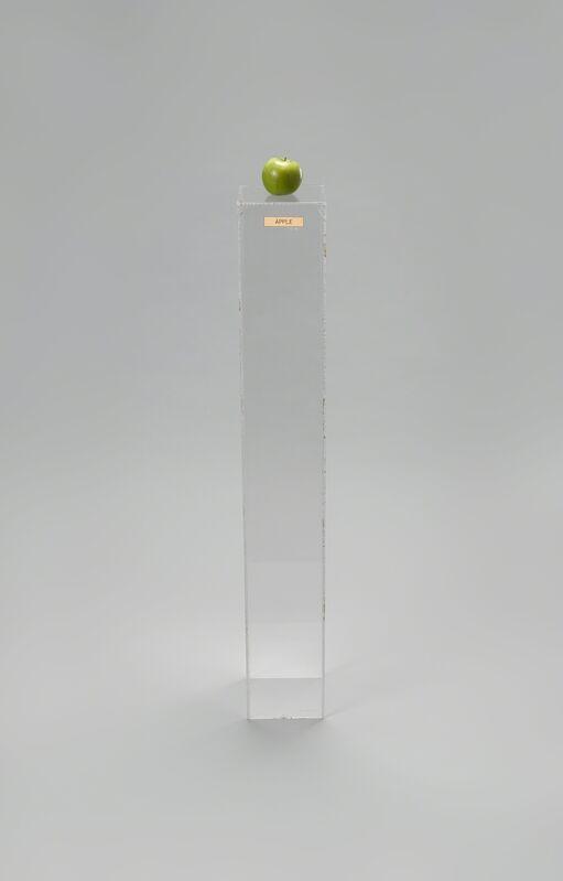 Yoko Ono, 'Apple', 1966, Sculpture, Plexiglass pedestal, brass plaque, apple, The Museum of Modern Art